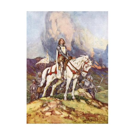 20th Century French Art - Joan of Arc, the Country Girl Who Led a King to Victory, 20th Century Print Wall Art By C Dudley Tennant