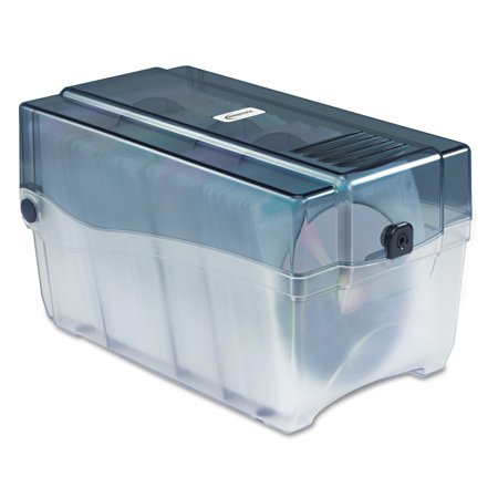 Innovera CD/DVD Storage Case, Holds 150 Discs, Clear/Smoke - Fellowes Cd Storage