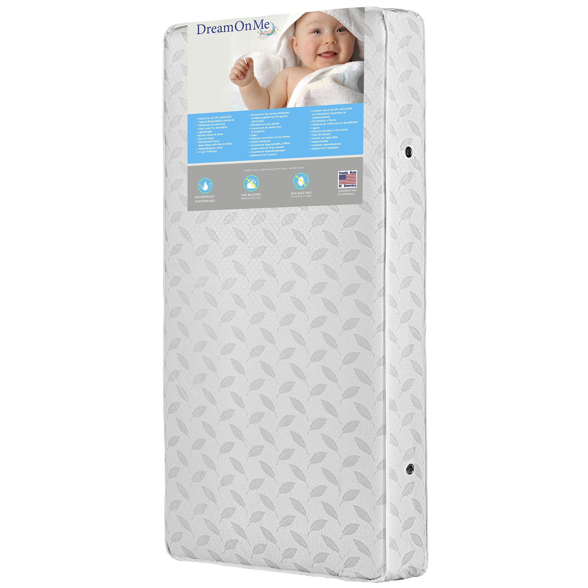 Dream On Me 132 Premium Coil Inner Spring Crib and Toddler Mattress