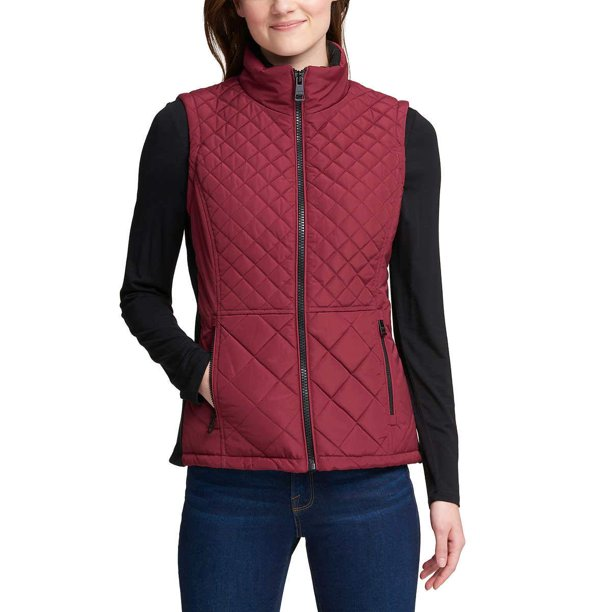 womens vest jacket : Andrew Marc Women Quilted Insulated Vest Jacket