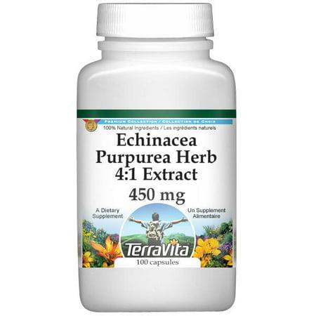 Echinacea Purpurea Herb 4:1 Extract - 450 mg (100 capsules, ZIN: 513863) Echinacea Purpurea Echinacea Medicine
