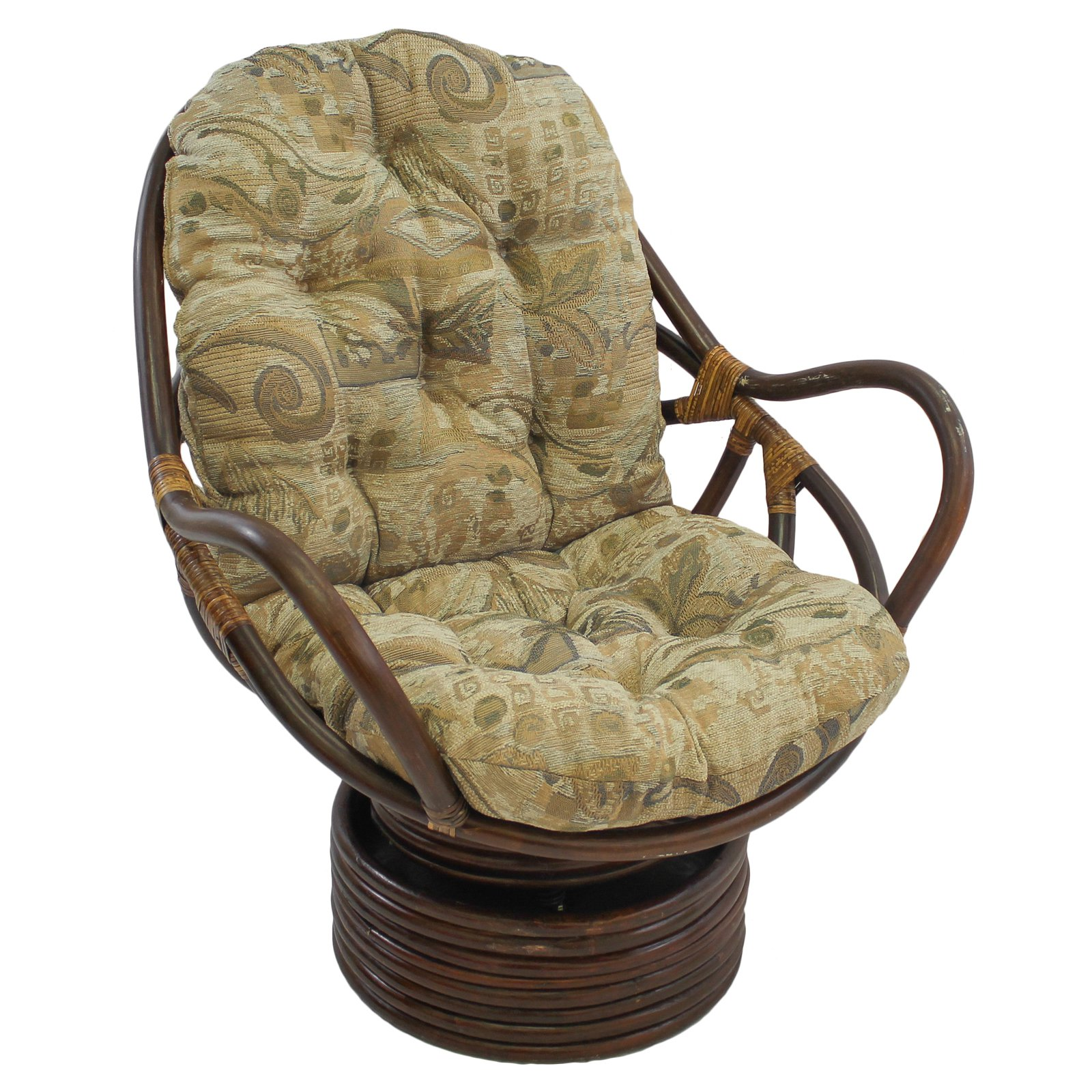 International Caravan Swivel Rocker Chair with Jacquard Chenille Cushion