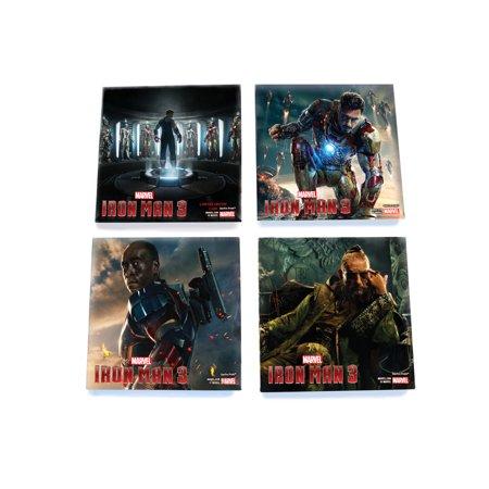 SDCC 2013 Exclusive Iron Man 3 StarFire Prints Glass Print Coaster Set