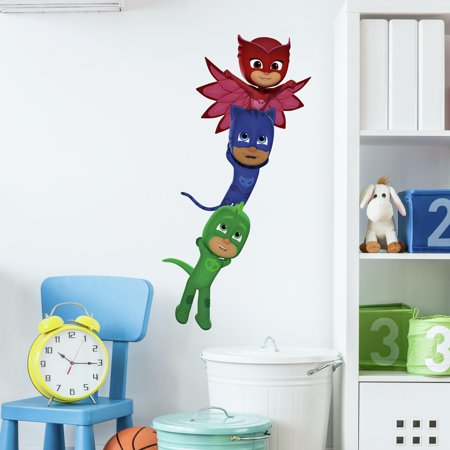 PJ Masks Superheroes Peel and Stick Giant Wall (Decorative Wall Mask)