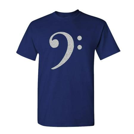 - BASS CLEF - treble music hip hop rap - Mens Cotton T-Shirt