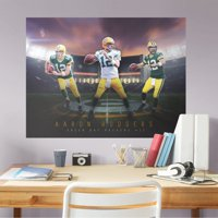 Fathead Aaron Rodgers: Montage Mural - Giant Officially Licensed NFL Removable Wall Graphic