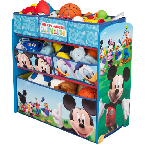 Disney Multi Bin Toy Organizer, Mickey Mouse