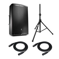 JBL EON615 15-inch Two-way PA System with Speaker Stands and XLR Mic Cables