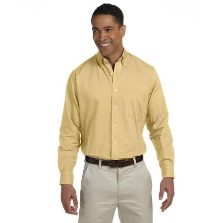 Van Heusen Vh56800 Dress Shirt Mens L S Wrinkle Resistant Oxford