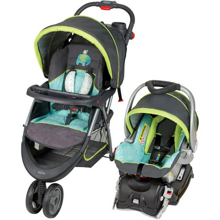 Baby Trend EZ Ride 5 Travel System, Woodland (The Best Car Seat Stroller Combo)