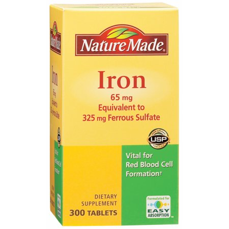 Nature Made 65mg Iron Tablets, 300 (65mg Tabs)