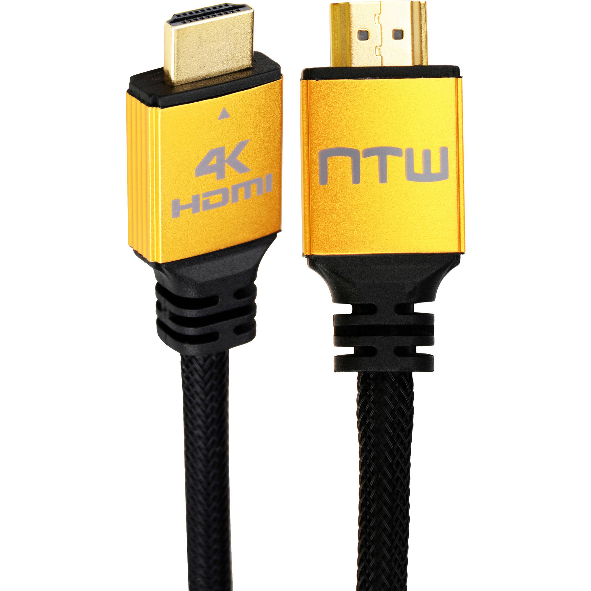 NTW 6' - 12' Ultra HD PURE PRO 4K High Speed HDMI Cable with Ethernet  4X the Clarity of 1080p Full HD for a Blazing 18Gbps Fast, Crisp, Clear A/V Connection, and 100 Percent Four Layer Shielding