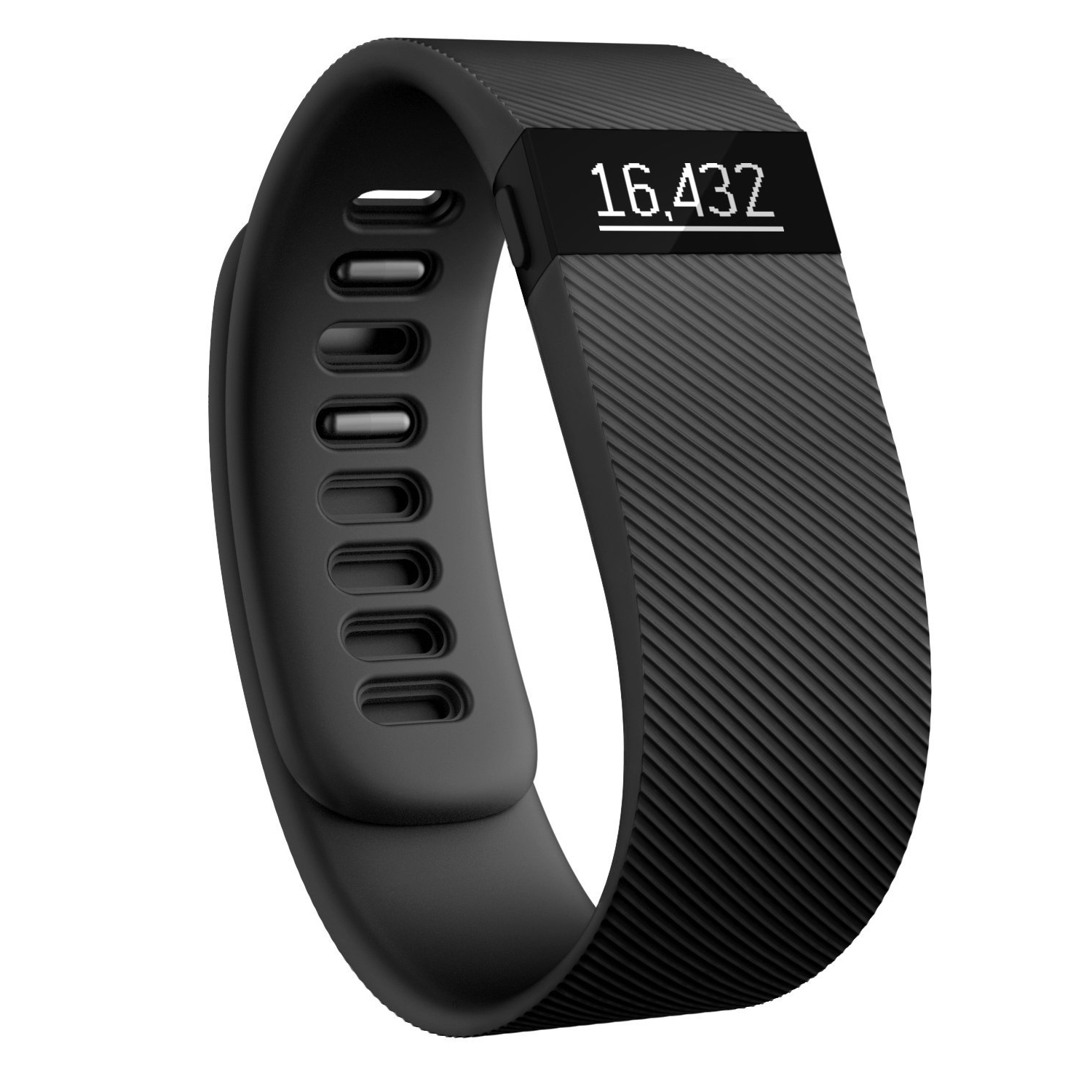 Refurbished Fitbit Charge Wireless Activity & Sleep Tracker Wristband Watch - Black Large