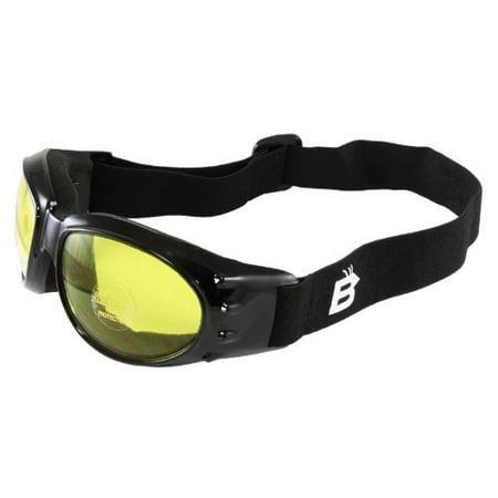 - Birdz Eyewear Eagle Motorcycle Goggles (Black Frame/Yellow Lens)