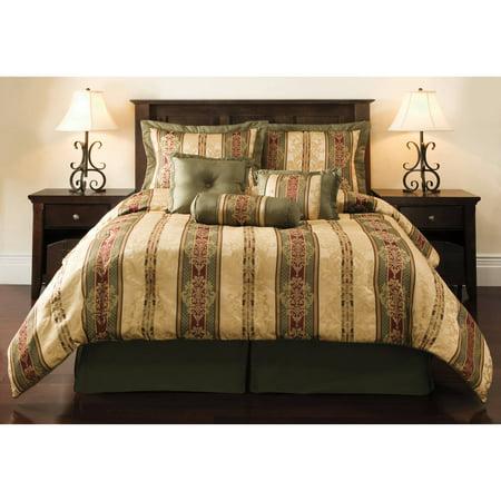 Mainstays Dakota 7 Piece Comforter Set Walmart Com