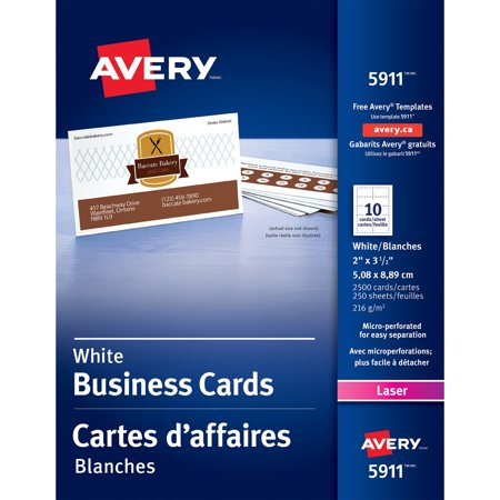 Avery Printable Microperf Business Cards, Laser, 2 x 3 1/2, White, Uncoated, - Mini Printable Halloween Cards