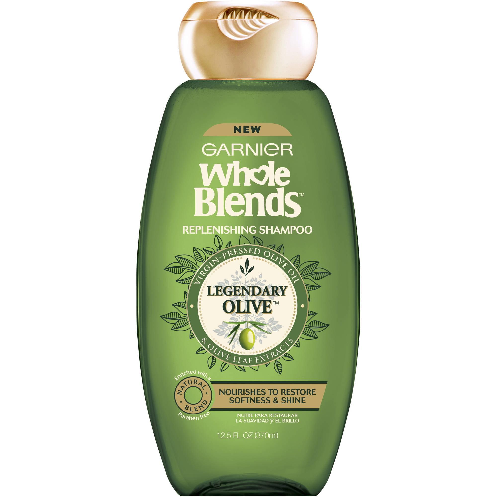 Garnier Whole Blends Replenishing Shampoo Legendary Olive 12.5 FL OZ