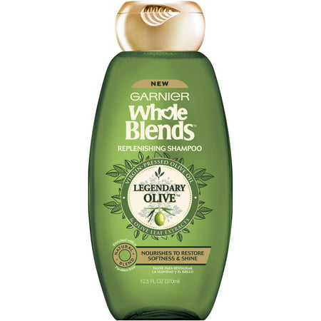 - Garnier Whole Blends Replenishing Shampoo Legendary Olive 12.5 FL OZ