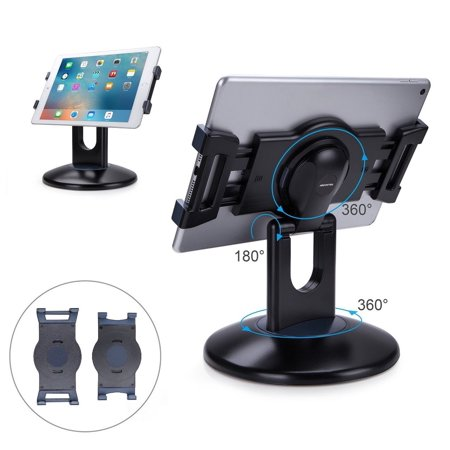Ipod Stand (AboveTEK Retail Kiosk iPad Stand, 360° Rotating Commercial Tablet Stand, 6-13.5