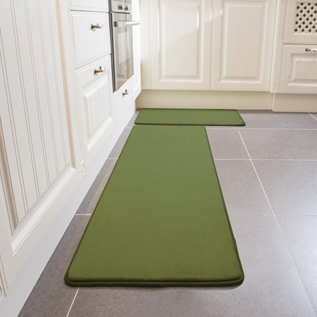 Kitchen Rug Set Leevan Memory Foam Comfort Mat