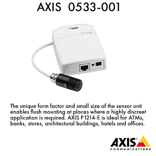 Axis 0533-001 Communications Mini HDTV Pinhole Outdoor Network Camera with 2.8 mm Lens (White)