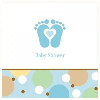 Baby Shower 'Tiny Toes Blue' Lunch Napkins (18ct)