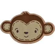 "The Rug Market Shaped Monkey Face 3"" x 3"" Area Rug"