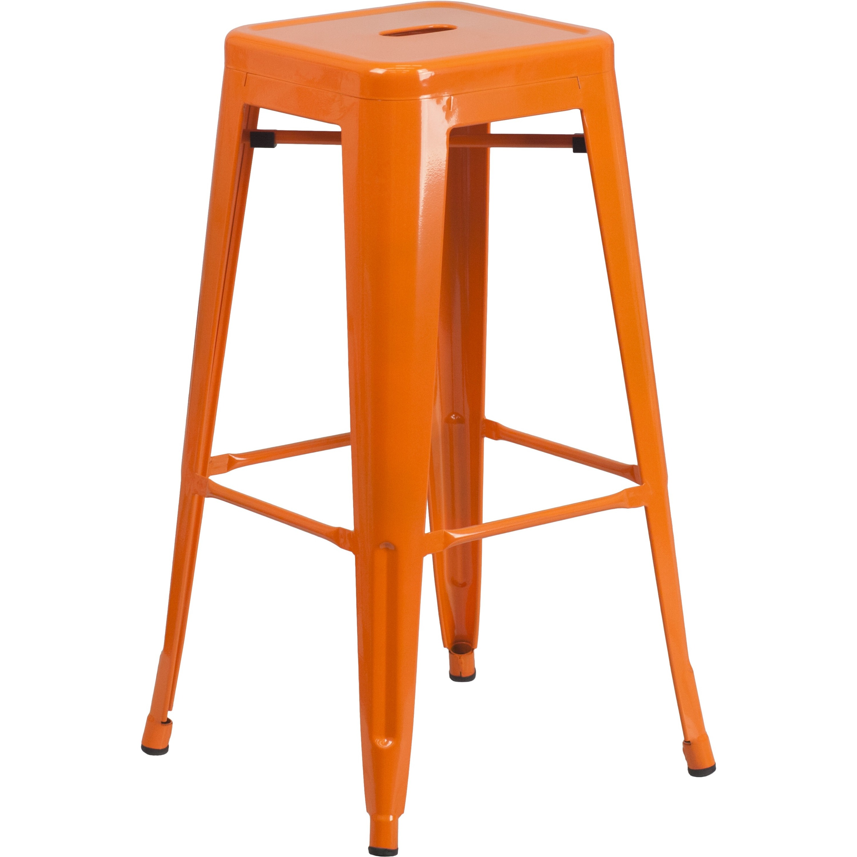 Flash Furniture 30'' High Backless Metal Indoor-Outdoor Barstool with Square Seat, Multiple Colors