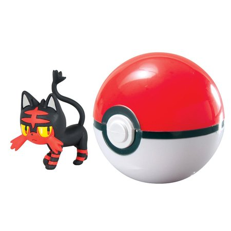 Pokemon Clip n Carry Pokeball Litten & Poke Ball Figure Set, Comes with one 2