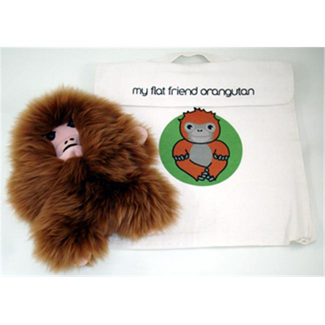 Flat Friends ORANLC Orangutang Soft Toy And Carry Bag