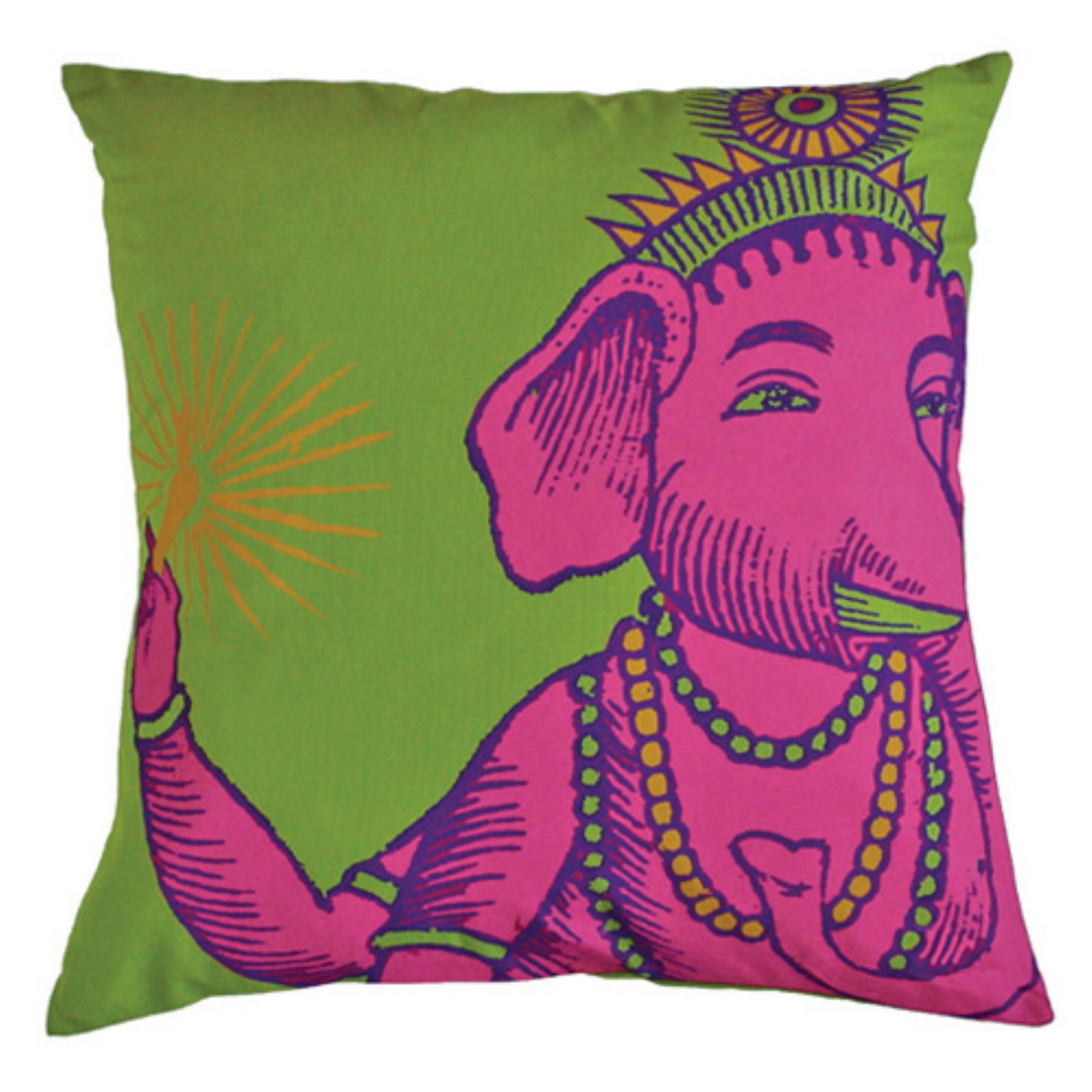 Koko Company Bazaar Lime Decorative Pillow