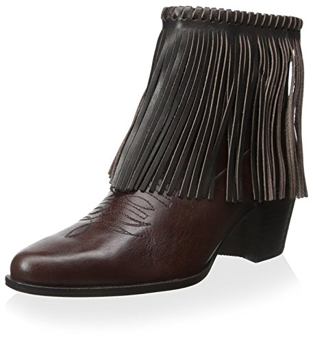 Bettye Muller Women's Fringe Bootie, Chocolate, 6 M US