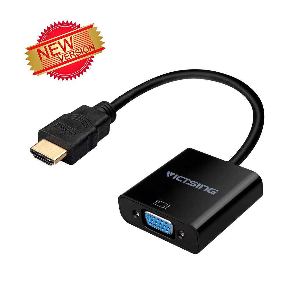 HDMI to VGA,VicTsing 1080P HDMI Male to VGA Female Video Converter Adapter Cable For PC Laptop HDTV Projectors and other HDMI input devices