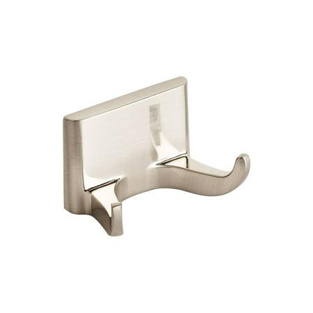 Modern Brushed Nickel Double Robe Hook Hanger Bathroom