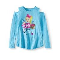 Nickelodeon JoJo Siwa Cold Shoulder Long Sleeve Graphic T-Shirt (Little Girls & Big Girls)