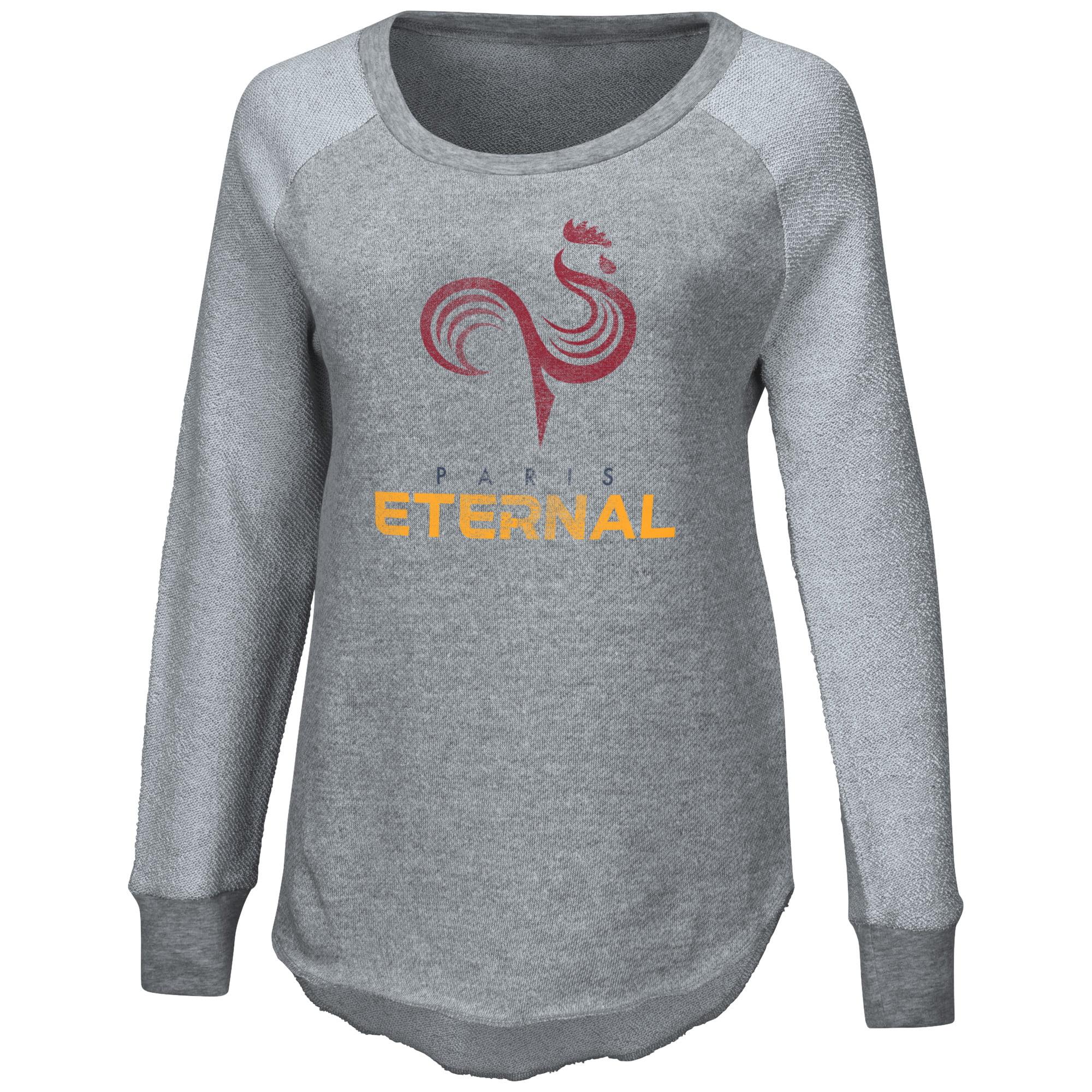 Paris Eternal G-III 4Her by Carl Banks Women's Raglan Pullover Sweatshirt - Heather Gray