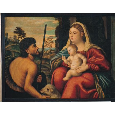 Madonna And Child With St John The Baptist Canvas Art - (36...