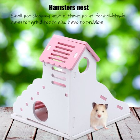 Sonew Pink Small Pet House Sleeping Nest with Stairs