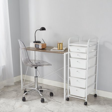 Urban Shop Rolling 6 Drawer Organizer Storage Cart ()