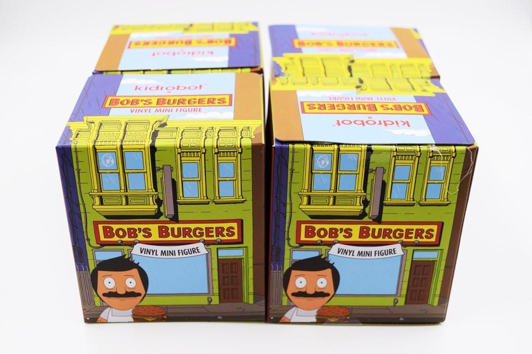 SET OF 4 BOB/'S BURGERS BLIND BOX VINYL FIGURE SERIES 2 BY KIDROBOT
