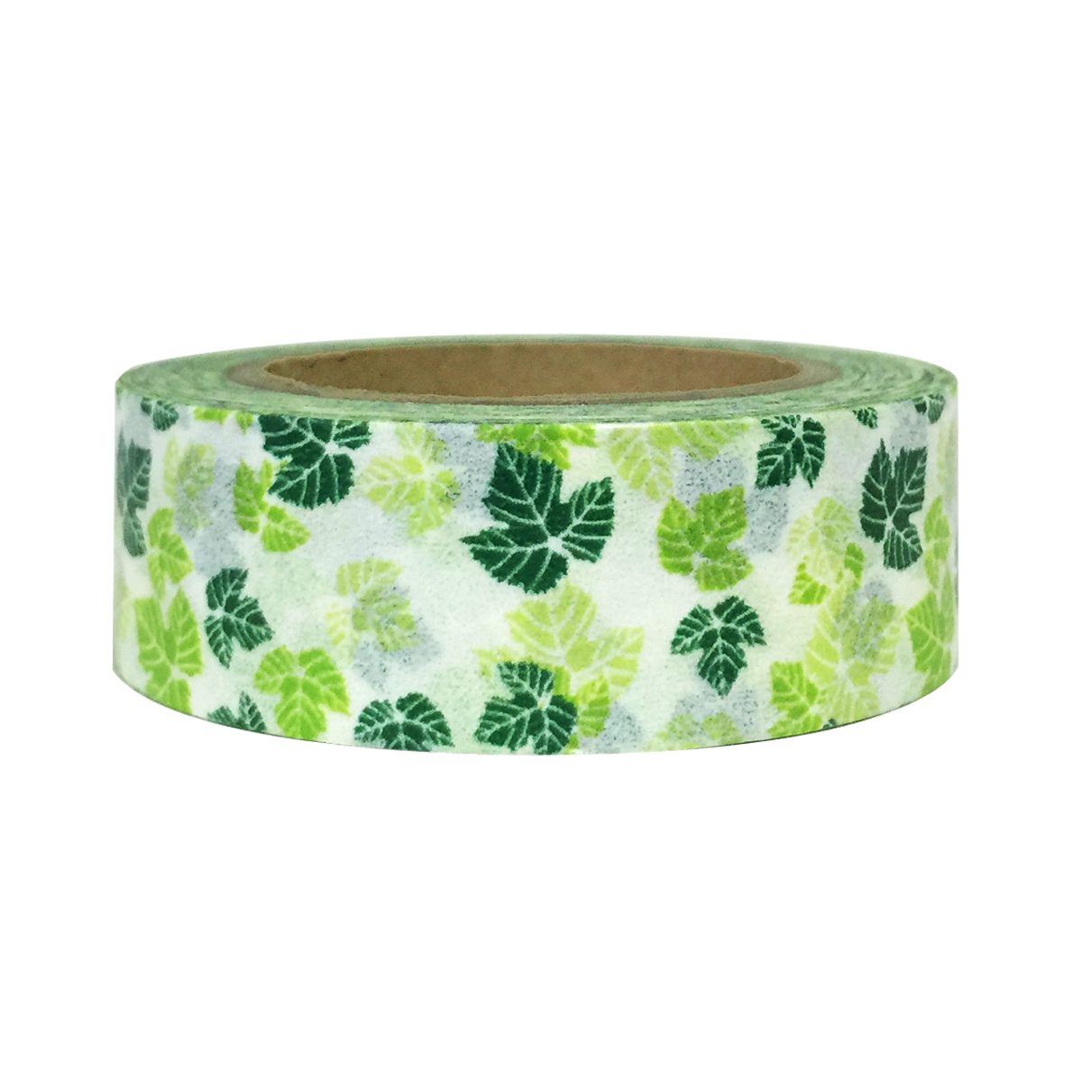 Wrapables® Colorful Patterns Washi Masking Tape, Green Maple Leaves