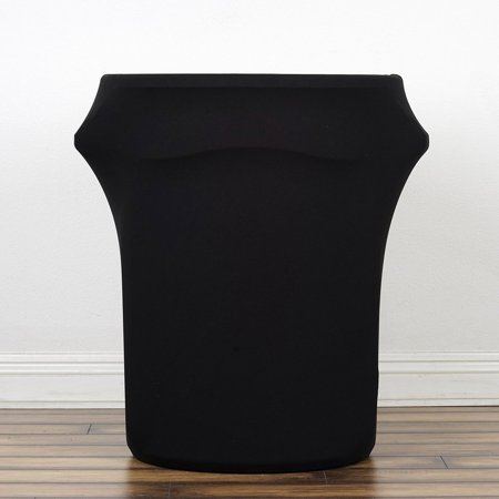 BalsaCircle Black Stretchable Spandex Round Waste Trash Bin Container Cover - Wedding Party Decorations Catering Event Decorations