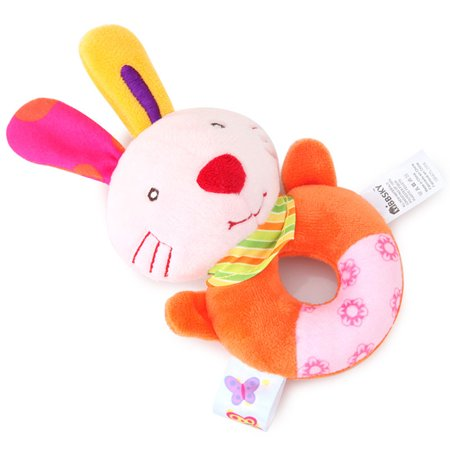 Animal Stuffed Toys for Children Handbell Baby Rattles Plush Educational Stuffed Toy Playmate Teether