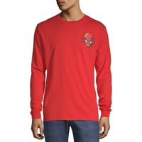 """Men's Marvel Spider Man """"Comic Book Icon"""" Red Long Sleeve Graphic Tee"""