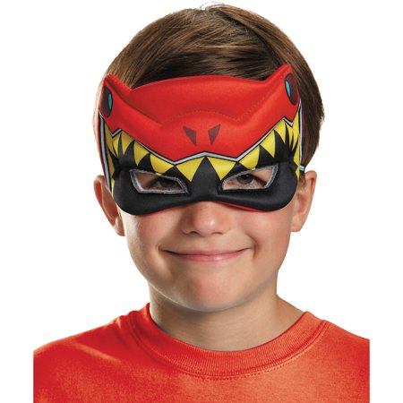 Red Ranger Dino Charge Puffy Mask Child Halloween Accessory - Austin Powers Mask