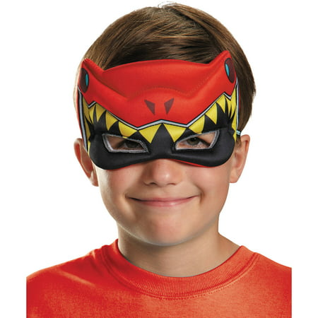 Red Ranger Dino Charge Puffy Mask Child Halloween Accessory (Red Power Ranger Mask)