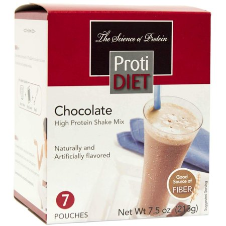 ProtiDiet Protein Shake - Chocolate - 7/Box - High Protein 15g - Low Calorie - Low