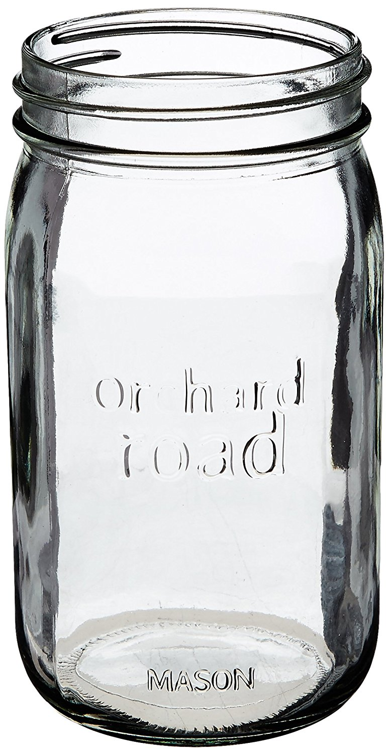 508 QT Wide Mason Jar, The product is 6PK QT Wide Mason Jar By Orchard Road Canning by