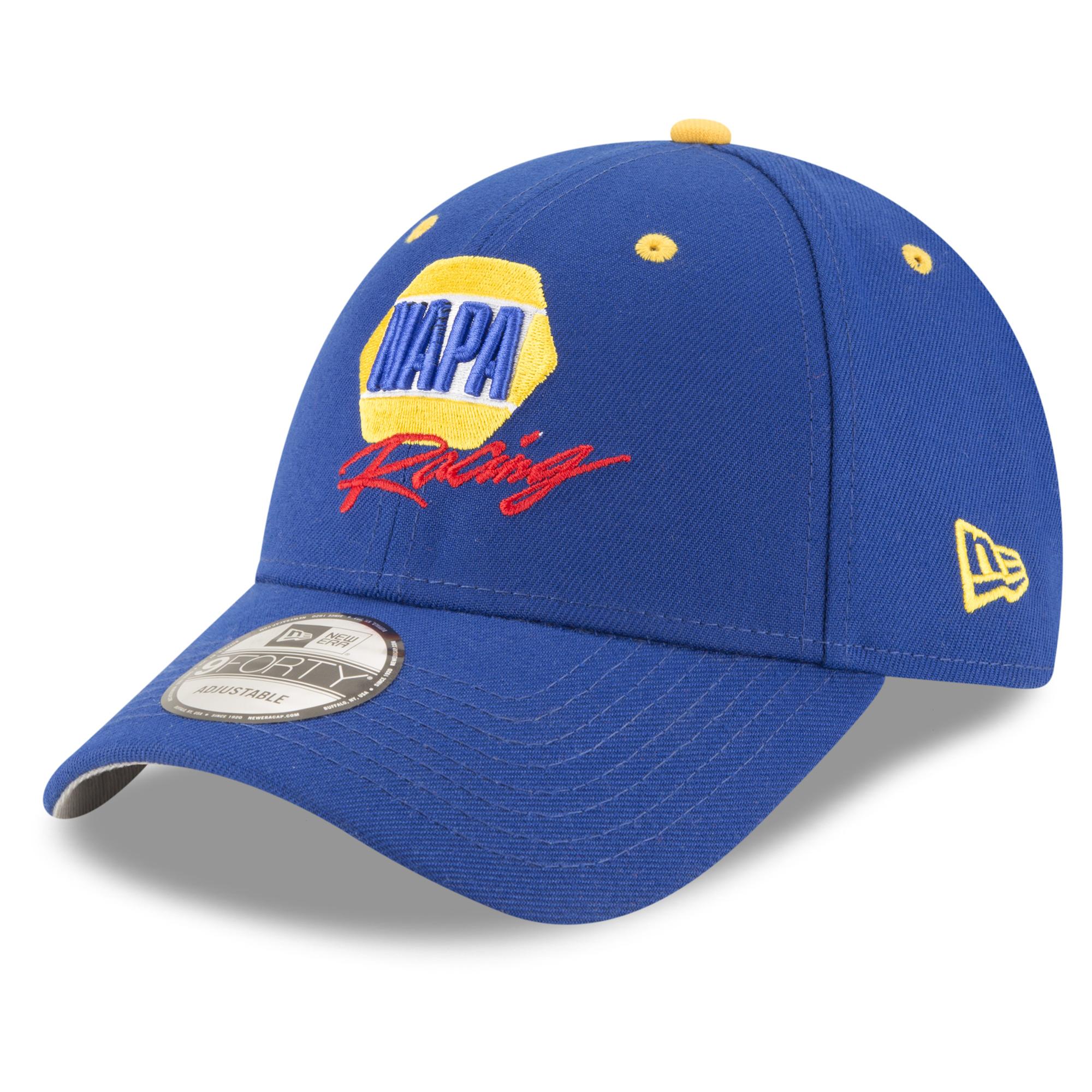 Chase Elliott New Era NAPA Driver 9FORTY GCP Adjustable Hat - Royal - OSFA