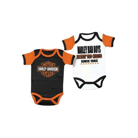 2916fb881 Harley-Davidson - Harley-Davidson Baby Boys' Cradle Creeper Set, 2 Pack,  White/Black 3050551, Harley Davidson - Walmart.com